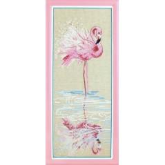 Cross Stitch Kit At the water (flamingo) M-294