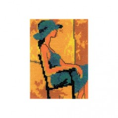 Cross Stitch Kit Girl in blue EH340