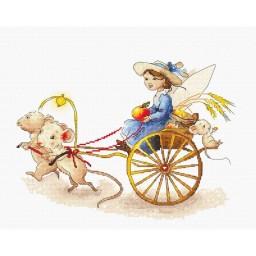 Cross Stitch Kit Fairy with Mice B1170