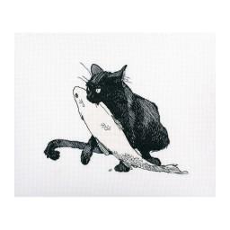 Cross Stitch Kit Among Black Cats M665