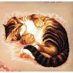 Cross Stitch Kit Sweet dream (cat) art. 332