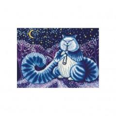 Cross Stitch Kit Moon cat L-07