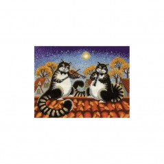 Cross Stitch Kit Autumn duet O-09