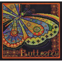 Cross Stitch Kit Stained Glass Butterfly B-1043