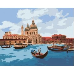 PAINT BY NUMBERS KIT Midday in Venice 40 x 50 cm КНО2118 Framed