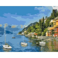 PAINT BY NUMBERS KIT Coastal holiday 40 x 50 cm КНО2164 Framed