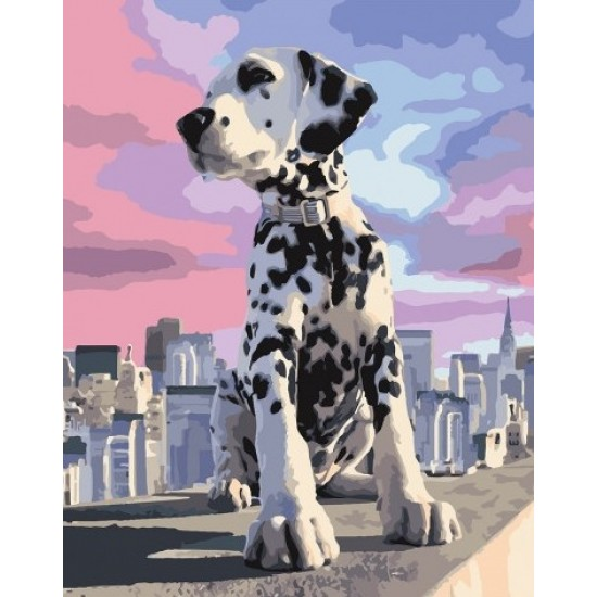 PAINT BY NUMBERS KIT Dog Adventure 40 x 50 cm КНО4170 Framed