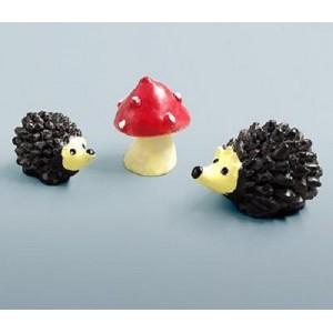 Mini figurine Hedgehog decor mini fairy garden animal statue miniature resin craft