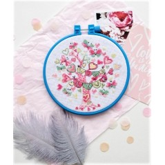 Cross Stitch Kit Bloom AHM-013 Decorative embroidery frame included