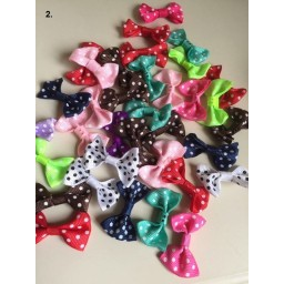 20 pcs Fashion Wedding Decoration Artificial Flowers Gird Ribbon Bow Flowers DIY
