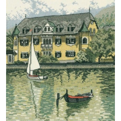 Cross Stitch Kit River House R145