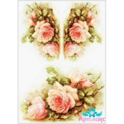 Rice Card For Decoupage DELICATE ROSES 21X29 CM AM400117D