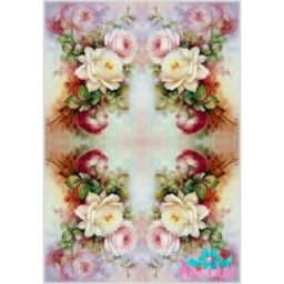 Rice Card For Decoupage DELICATE ROSES 21X29 CM AM400119D
