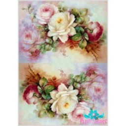 Rice Card For Decoupage DELICATE ROSES 21X29 CM AM400120D