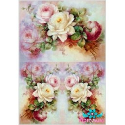 Rice Card For Decoupage DELICATE ROSES 21X29 CM AM400121D
