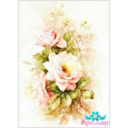 Rice Card For Decoupage DELICATE ROSES 21X29 CM AM400122D
