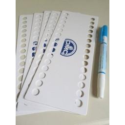 Set 5 pcs DMC threads organizer 30 holes + 1 Washable Water-based Pen