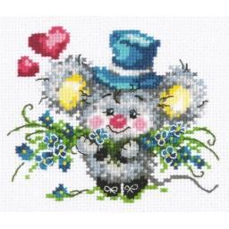 Cross Stitch Kit My hand and heart art. 18-60