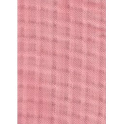 1 Pc Salmon pink Cotton Aida 14 ct 32x45cm
