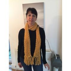 Handmade scarf Ocher color