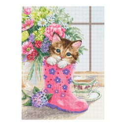 Cross Stitch Kit Pretty Kitten B2390