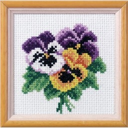 Cross Stitch Kit Violet art. 7511 with printed canvas