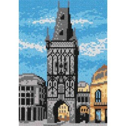 TAPESTRY CANVAS Tower 18x24cm 1594F