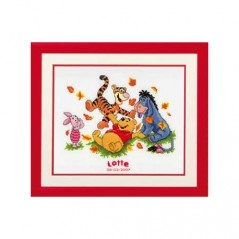 Cross Stitch Kit Baby birth Pooh and friends 2002/70982