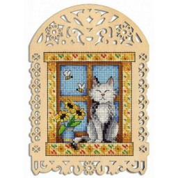 Cross Stitch Kit SUMMER DAY SO-004 on perforated plywood base  Pre-order