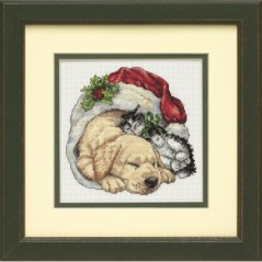 Cross Stitch Kit Cross Stitch Kit Christmas Morning Pets, Christmas Eve Print, Dimensions Manufacture art. 8826