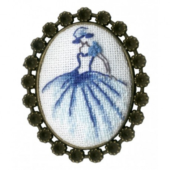 Embroidery Kit Dancer Brooch SSH-016