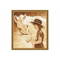 Cross Stitch Kit Favorite horse SV-026
