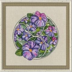 Cross Stitch Kit Flower Horoscope Cancer after Deidra Lissa's painting TSG-004