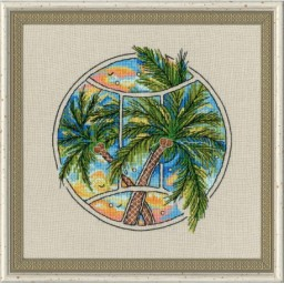 M-239 Cross stitch kit In the Silent place cat