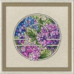 Cross Stitch Kit Flower Horoscope Libra after Deidra Lissa's painting TSG-007