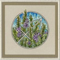 Cross Stitch Kit Flower Horoscope Sagittarius after Deidra Lissa's painting TSG-009