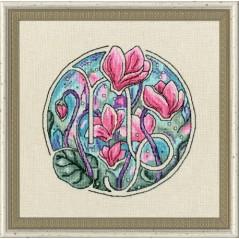 Cross Stitch Kit Flower Horoscope Capricornus after Deidra Lissa's painting TSG-010