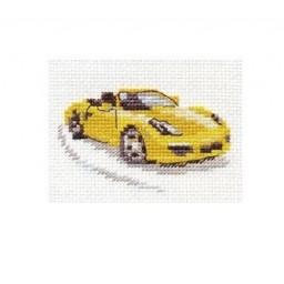 Cross Stitch Kit Yellow sports car art. 0-156