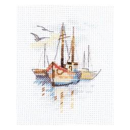 Cross Stitch Kit Boat at Dawn art. 0-196