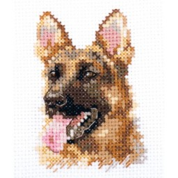 Cross Stitch Kit Shepherd dog art. 0-209