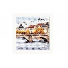 Cross Stitch Kit Autumn In The City. Seagulls Over The Bridge art. 0-216