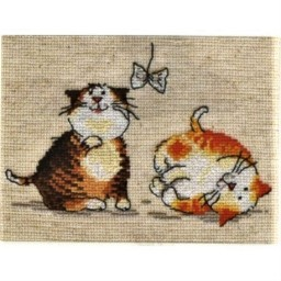 Cross Stitch Kit Two Kittens art. 0-30