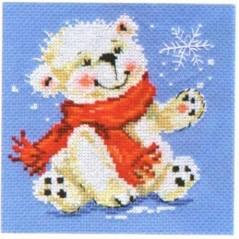 Cross Stitch Kit White Bear art. 0-53