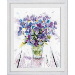 Cross Stitch Kit Blue violets art. 1006