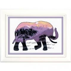 Cross stitch kit Animal world. Elephant art. 1049