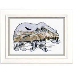 Cross stitch kit Animal world. Bear art. 1052 Pre-order