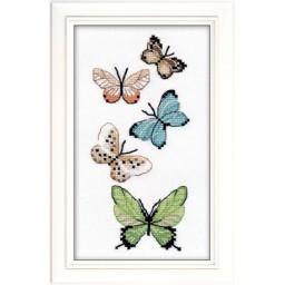 Cross Stitch Kit Applied embroidery Butterflies art. 1076
