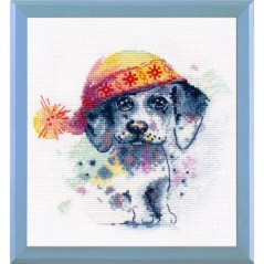 Cross stitch kit A cute puppy art. 1023