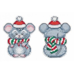 Cross Stitch Kit CHRISTMAS TOY. LITTLE MOUSE art. 1251 with plastic canvas