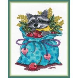 Cross Stitch Kit RACCOON SWEET TOOTH art. 1263 Pre-order